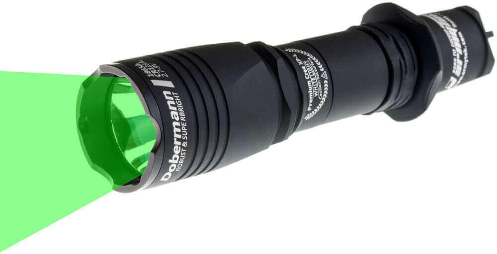 "Taschenlampe ""Dobermann"" grün"